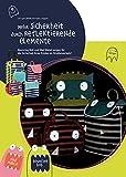 Lässig Trolley Kindertrolley stabil Reisegepäck Kinder Reisekoffer Koffer mit Packriemen, 2-stufig höhenverstellbarem Griff, Reißverschlussfach, vorne separater Schuh-/Wäschebeutel, Little Monsters, Bouncing Bob, Navy Türkis - 3