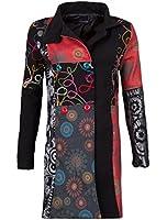 Sehr schöner Damen Luxus Winter Mantel Patchwork Trenchcoat 36 38 40 42 44 45 in 12 verschiedenen Designs