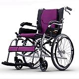 T-Rollstühle Manueller Rollstuhl, Ultra Helles Portable, faltend, Aluminiumlegierungs-Rollstuhl, ältere Personen, Behindert, Reise-Reise