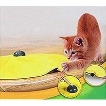 4 Velocidades Juguetes para gatos Undercover Mouse Cloth Juego Electrónico interactivo Kitten Pet - Aamarilla
