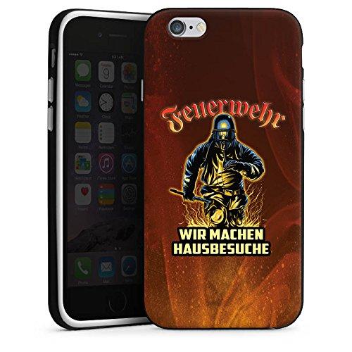 Apple iPhone SE Stand Up Hülle Case Cover mit Standfunktion Feuerwehrmann Spruch Feuerwehr Silikon Case schwarz / weiß