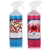 2 Pack of The Chemical Hut Cherry and Candy Kennel Bactericidal Deodoriser for Pet Training Kills Smells from Urine, Vomit and Feaces
