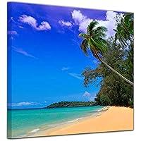 Relax 3 Bilder Bild Karibik Südsee Strand auf Leinwand Wandbild Poster
