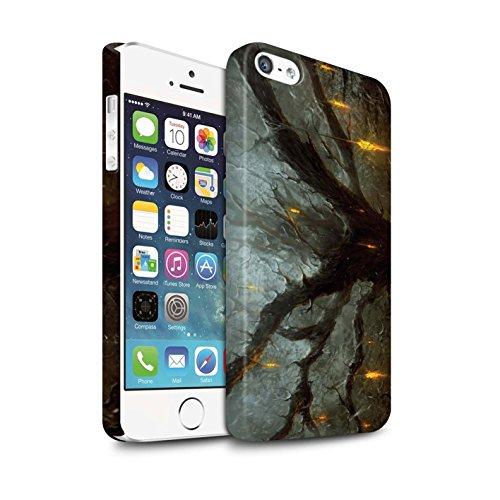 Offiziell Chris Cold Hülle / Matte Snap-On Case für Apple iPhone SE / Shadowgate Schloss Muster / Gefallene Erde Kollektion Baum des Wissens
