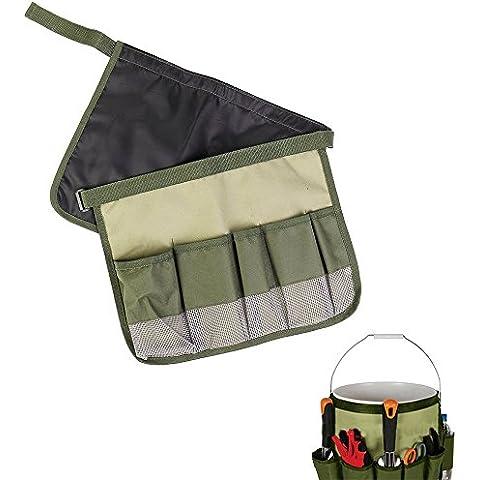 Sgabello da giardino, portatile multifunzione porta attrezzi da giardino, regolabile 600d Oxford panno Toolkit