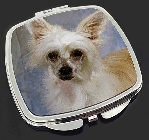 Chinese Crested Powder Puff Hund Make-up Taschenspiegel Weihnachtsgeschenk -