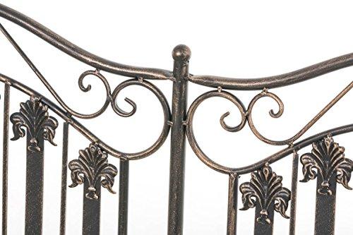 CLP Metall-Gartenbank RONJA im Landhausstil, Eisen lackiert, 108 x 55 cm, 2er Sitzbank Bronze - 5