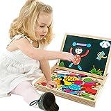 Magnetisches Holzpuzzles Puzzles Zeichnung Holzbrett Spielzeug Lernspielzeug Staffelei Doodle Lernspiel Spiel fürKinderJungs Mädchen 3 45 JahrenAlt