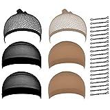 Best Hair Nets - Lictin Pack of 6 Black Wig Net Cap Review