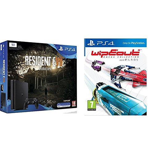 Pack PS4 1 To + Resident Evil 7 + Wipeout Omega Collection
