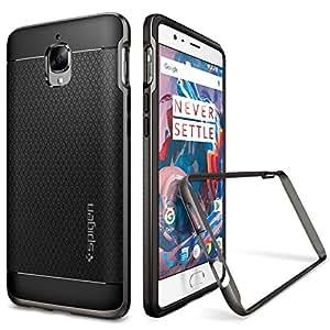 Cover OnePlus 3 / OnePlus 3T, Spigen [Stile-Elegante-Bumper] Neo Hybrid [Gunmetal] **Elaborata Struttura & Designo** Custodia OnePlus 3, OnePlus 3T (K03CS20617)