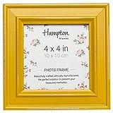 Hampton cornici Paloma Cornice portafoto, Legno, Giallo Senape, 14.5x 14.5x 2.5cm