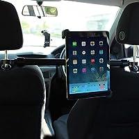 Olixar Universal Tablet Car Headrest Mount Pro Supporto Posteriore Porta Tablet Ipad da 7'' ad 11'' pollici Auto Poggiatesta Sedile Universale Regolabile in Orizzontale Rotante Traslazione Orizzontale da Destra a Sinistra da 190 mm a 300 mm - Porta Posteriore