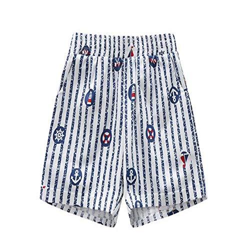 Zhoujingtian pantaloncini da donna pantaloncini da spiaggia casual da bambina in cotone stampato a-8 da 100 cm