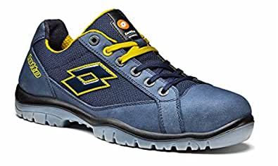 Lotto Works Q1997 Jump 500 S1P SRC - Scarpa Antinfortunistica, Blu/Giallo (Aviator/Yellow), 38 EU