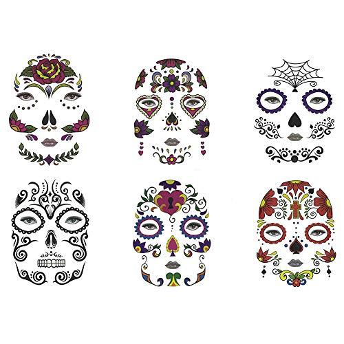 Halloween Grafiken Frei - WWK Halloween Tattoo Sticker, Tätowierungsaufkleber Undead