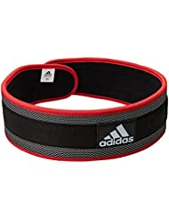 adidas Nylon Lumbar Lifting Belt - Black/Red