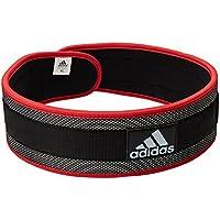 adidas ADGB-12238 - Cinturón de nylon para levantamiento, color negro, talla L