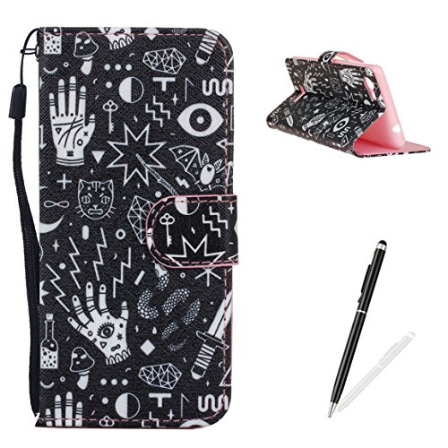 feeltech-wiko-fever-caseelegant-pu-leather-flip-wallet-cover-magnetic-closure-printing-funny-drawing