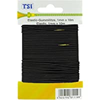 TSI Goma Litz, Elastano, Negro, 1000 x 0.1 x 0.1 cm