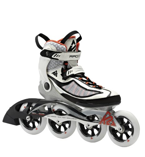K2 Damen Inline Skate RADICAL 100 W, Weiß/Schwarz/Orange, 8.5, 3040103.1.1.085