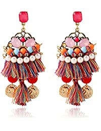 Young & Forever Multicolor Non-Precious Metal Dangle and Drop Earrings for Women