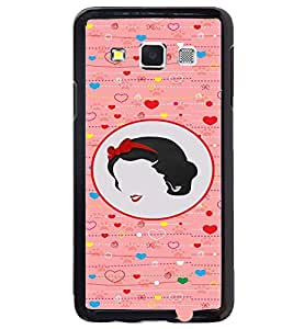 PRINTVISA Abstract Love Girl Case Cover for Samsung Galaxy A3::Samsung Galaxy A3 A300F