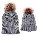 Damen Winter mütze Bommelmütze Frauen mütze mit Bommel Damen Strickmütze