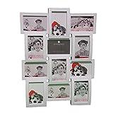 Marco de fotos mural efecto 'collage' capacidad 12 fotos - Color BLANCO.