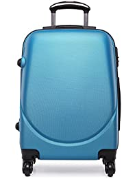 Kono Maleta pequeña de tamaño cabina con 4ruedas, exterior rígido de plástico ABS, ligera, aprox. 50 cm