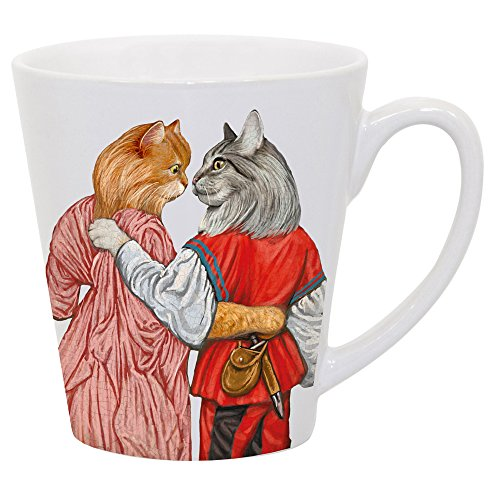 Romeow and Juliet Beautifully Illustrated Latte Mug