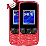 I KALL K29 Dual Sim Mobile Combo Of Two Basic Feature Mobile Phone 1800 Mah Battery Capacity - Red And Red