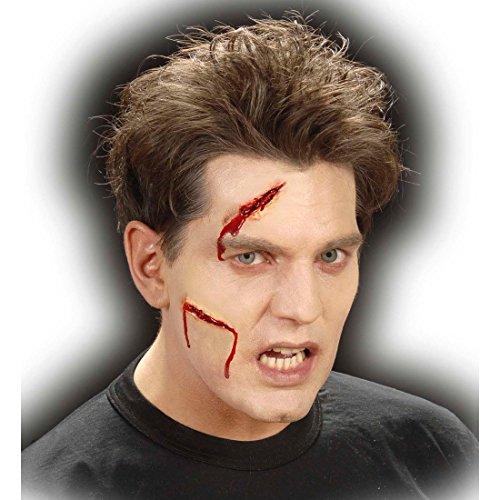 NET TOYS Latex Make up Wunden Schnittwunden Halloween Latex Applikationen Narben Gruselschminke Horrorschminke ()