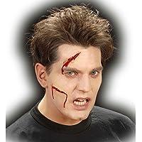 NET TOYS Finte ferite in lattice make up abrasioni tagli Halloween  applicazioni decorazioni cicatrici sfregi 513e0f59e821