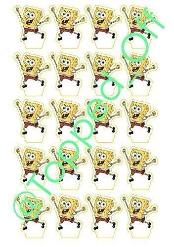 20 SpongeBob Schwammkopf-Ständer, essbar, Topped Off (kostenlose Lieferung) (Ein Spongebob Kostenlos)