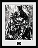GB eye Ltd Foto Batman Comic Rain, gerahmt, 1-teilig, ca. 40 x 30 cm