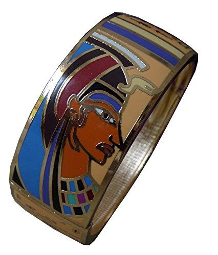 bracelet-haute-qualite-email-cleopatre-ouverture-avec-charniere-tres-tendance-gr19