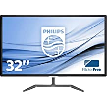 """Philips Monitores 323E7QDAB/00 - Monitor de 31.5"""" (resolución 1920 x 1080 pixels, tecnología WLED, contraste 1000:1, 5 ms, VGA), color negro"""