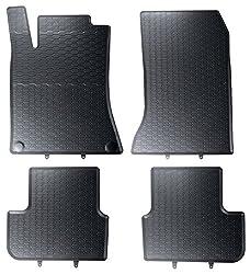 DAPA Prime Gummimatten Gummi Fußmatten Komplettset Schwarz perfekt passend mit Rand 1103830