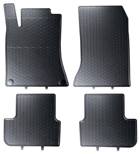 DAPA 1103830 Gummimatten Gummifußmatten Fußmatten Auto Gummi Automatten Hervorragende Premium Qualität Ideale Paßform als Ersatz für Ihre Originale - Mercedes-benz Gummi-auto-matten