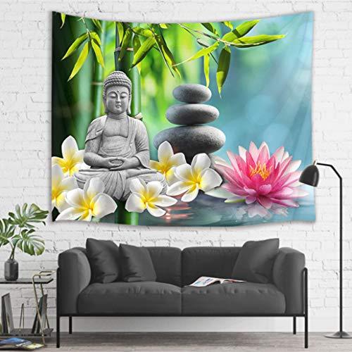 LB Zen Tapiz Buda Tapiz Pared Loto Rosa