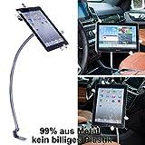 UrbanNerd KFZ Schwanenhals Halterung aus Metall für Apple-iPad-2-3-4-Mini-Air-Air-2 Samsung Galaxy Tab Serie & alle Tablet von 8