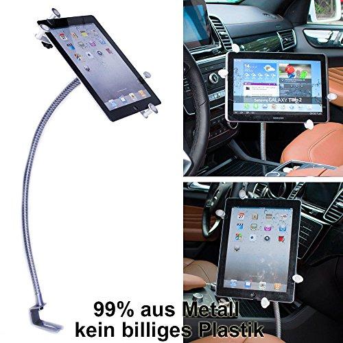 UrbanNerd KFZ Schwanenhals Halterung aus Metall für Apple-iPad-2-3-4-Mini-Air-Air-2 Samsung Galaxy Tab Serie & alle Tablet von 8' - 11 Zoll Einfacher einschrauben für kfz-auto-pkw LKW Flugzeug Boot sitz !