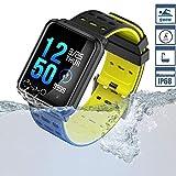 Smart Watch TagoBee TB06 IP68 Fitness Tracker for Swimming Bluetooth Waterproof Activity Tracker Smart Bracelet for Men Women Kids Smart Band Suport Pedometer Step Counter Blood Pressure Heart (black)