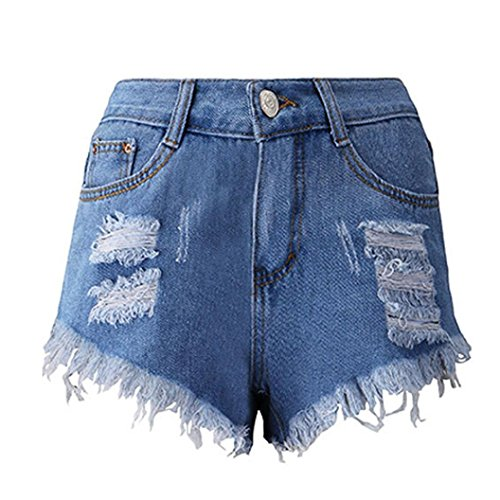 Denim Shorts,Ba Zha  Womens High Waisted Shorts Stretch Denim Jeans with Pockets Denim Shorts Jeans Skinny Summer Beach Hot Pants Slimming Butt Lifting Women Summer Skinny Jeans Beach
