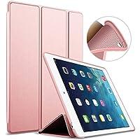 iPad Air 2 Funda, GOOJODOQ Ligero Smart Case Cover con Magnetic Auto Sleep/Wake Función Piel Sintética a Prueba de Golpes Suave Silicona TPU funda para Ipad Air 2 oro rosa