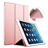 Custodia per iPad Air 2, Goojodoq Smart Cover con funzione Auto Sleep/Wake magnetico PU antiurto in silicone morbido TPU custodia a libro per Apple iPad Air 2 oro rose gold For iPad air 2
