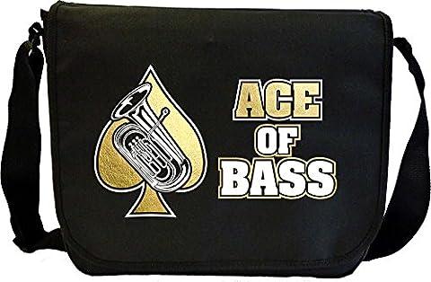 Tuba Ace Of Bass - Sheet Music Document Bag Sacoche de Musique MusicaliTee
