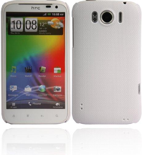 Twins Shield Mesh für HTC Sensation XL, weiß Passgenaue Schutzschale aus Hartplastik mit punktierter Oberfläche HTC Sensation XL Tasche, Handytasche, Etui, Case, Holster, Schutzhülle