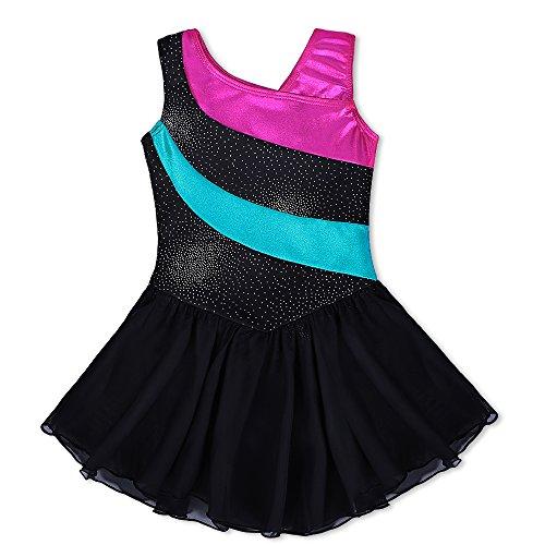 Kidsparadisy - Maillot de Danza para niñas con Falda de Tul sin...